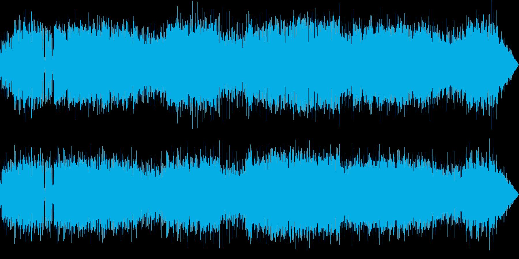 情熱的なプログレッシブ・ハードロックの再生済みの波形