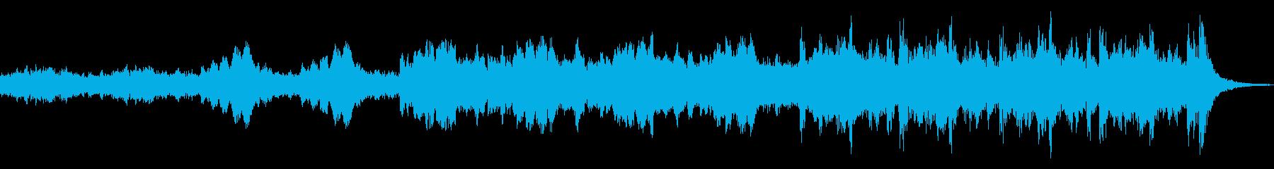 オーケストラ楽器。渦巻くドラマチッ...の再生済みの波形