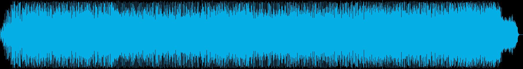 スピード感のあるポップス曲の再生済みの波形