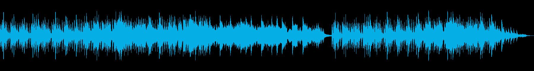 ゆったりした雰囲気のBGMの再生済みの波形