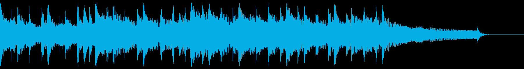透明感のあるポップで明るいジングル曲の再生済みの波形