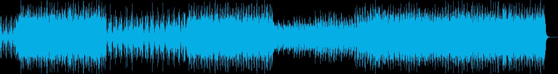 エキゾチックで情熱的なシタール風の曲の再生済みの波形