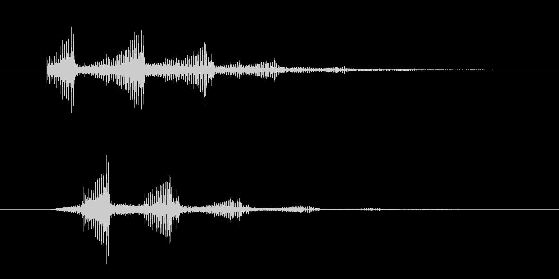 ズーンスーンというホラー系の効果音 の未再生の波形