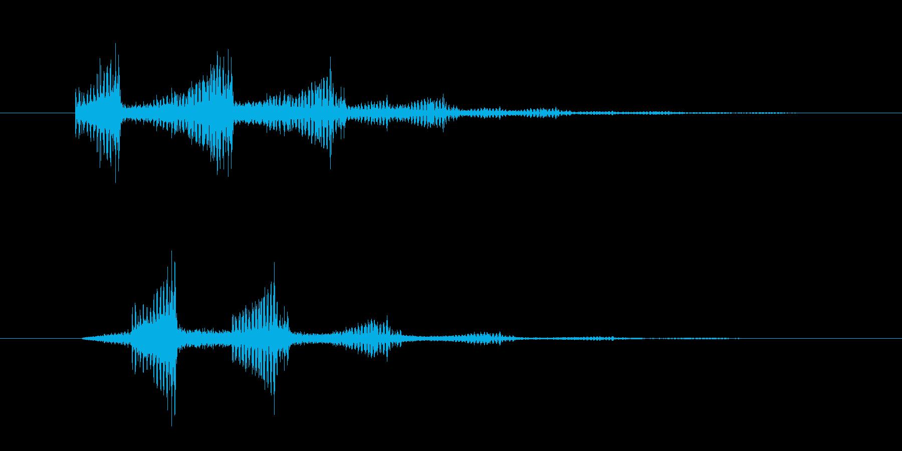ズーンスーンというホラー系の効果音 の再生済みの波形