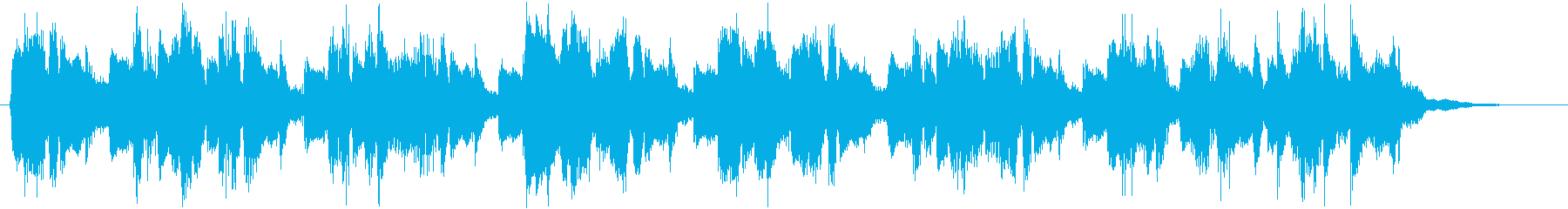 Radio jingle with a cyberpunk atmosphere's reproduced waveform