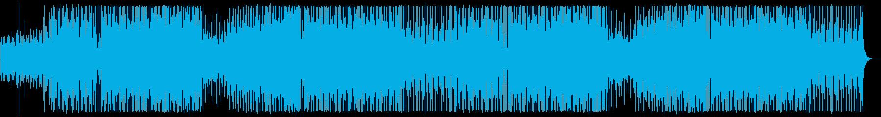 ダンサブルなエレクトロミュージックの再生済みの波形