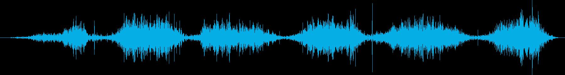 ショートグラウンドシフト、ダート、...の再生済みの波形