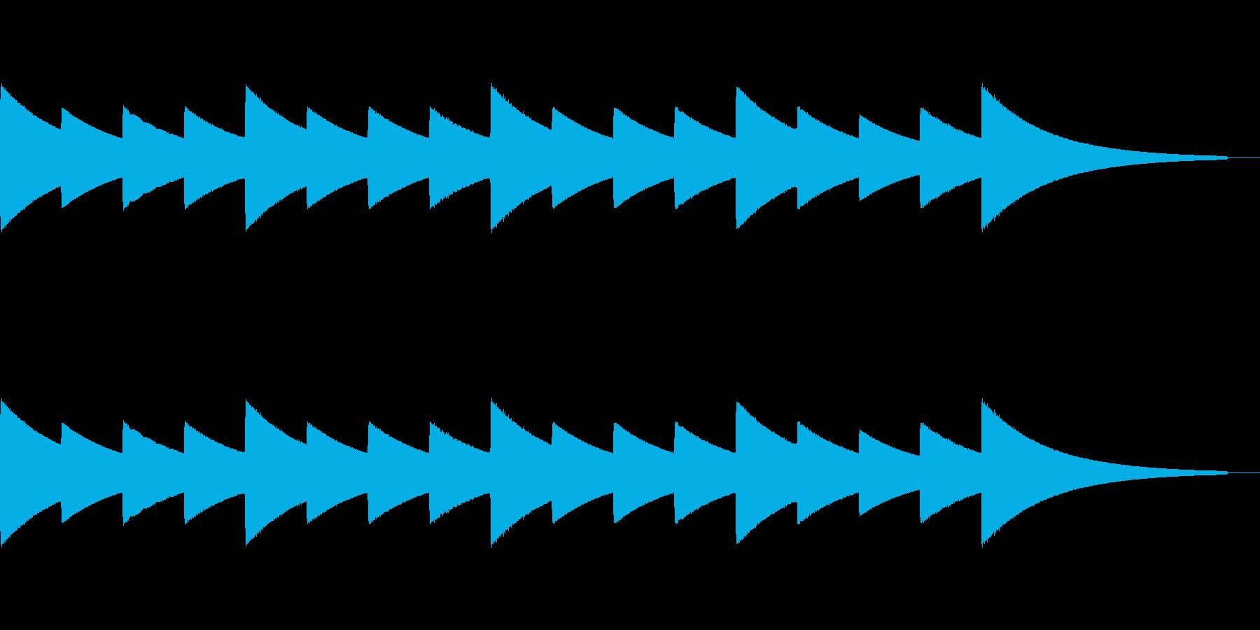 コンビニ入店音をイメージしたジングルで…の再生済みの波形
