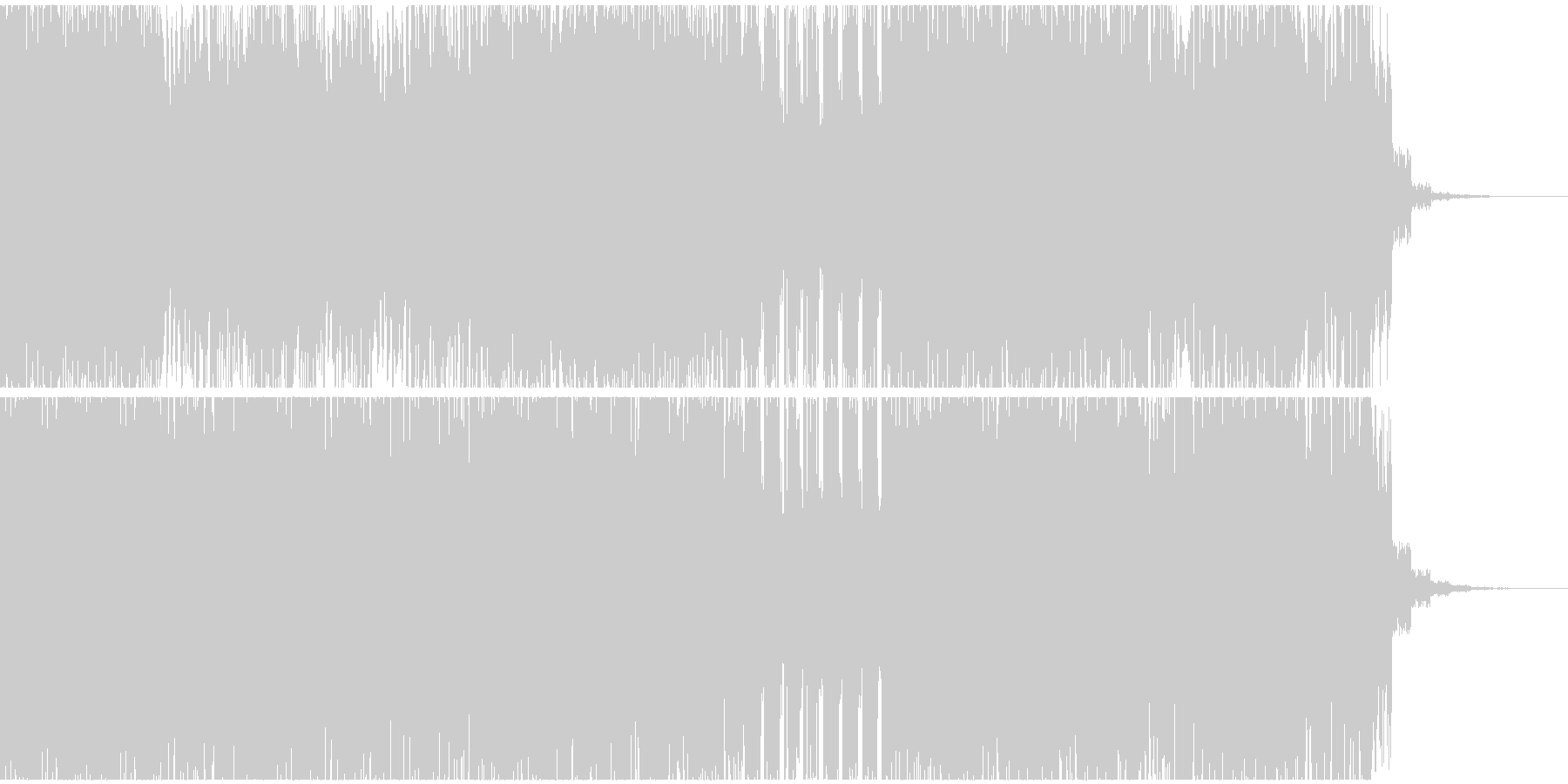 浮遊感のあるテクノサウンドの未再生の波形