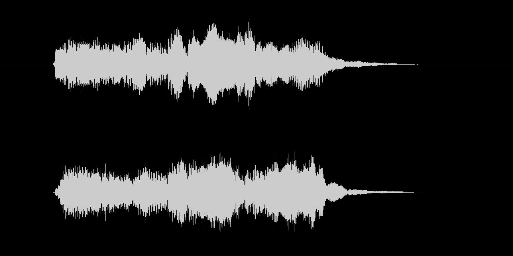 木管楽器による優しいジングルの未再生の波形
