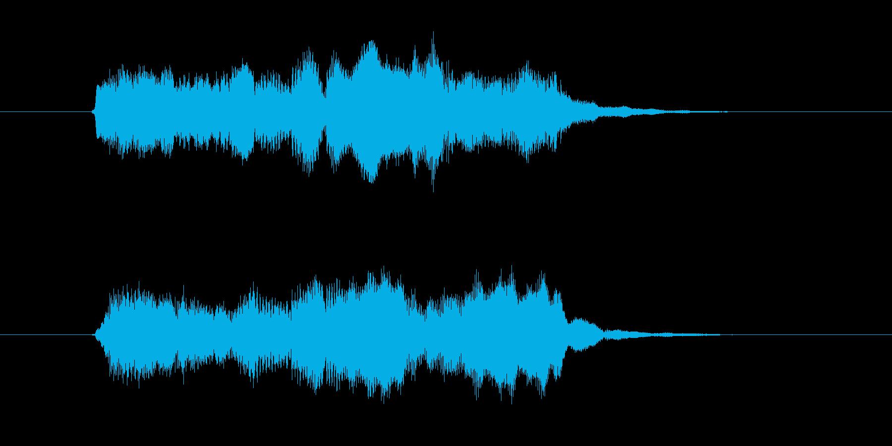 木管楽器による優しいジングルの再生済みの波形