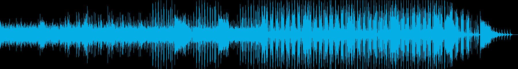 シンセを使った怪しい感じのBGMの再生済みの波形