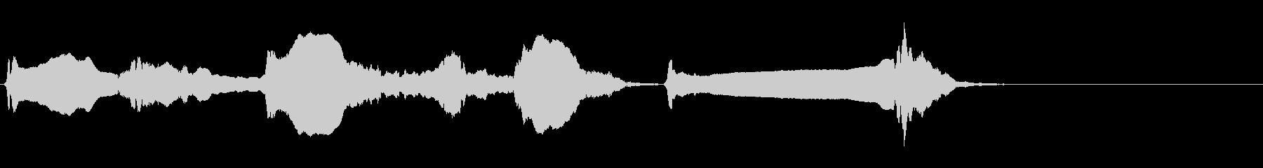 尺八 生演奏 古典風 残響音有 #5の未再生の波形