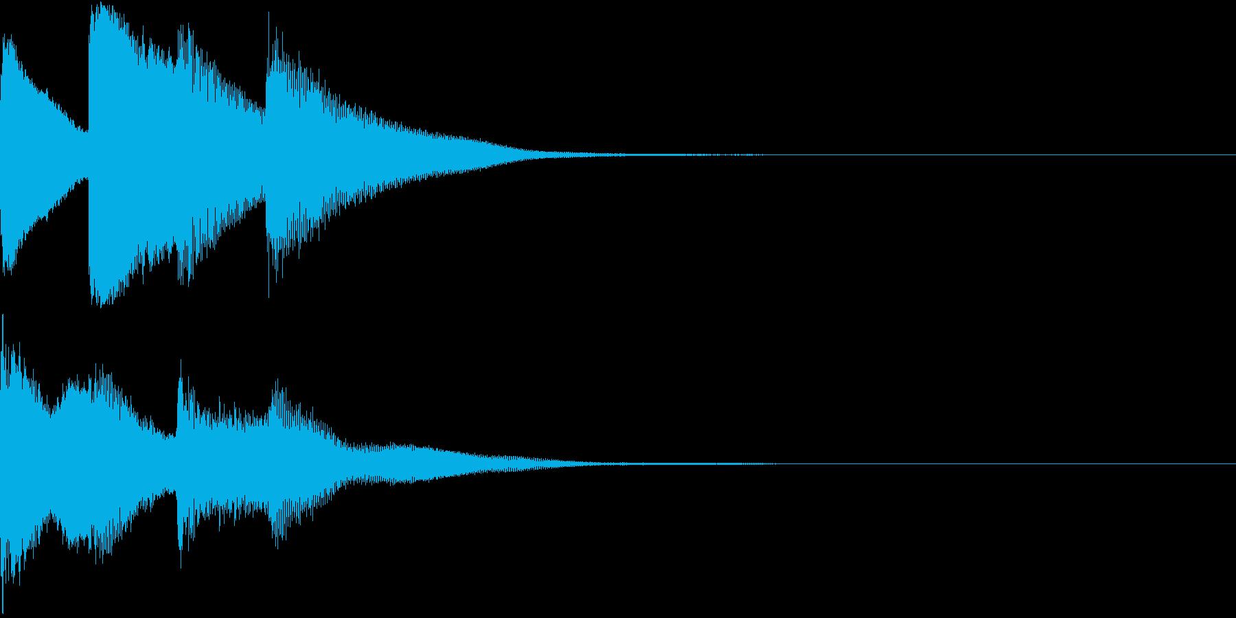 ポンポンパンポン/終わり/お知らせ/#1の再生済みの波形