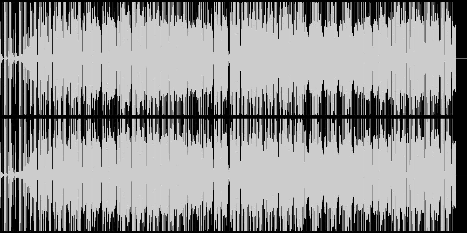 ゆったり坦々としたローファイヒップホップの未再生の波形