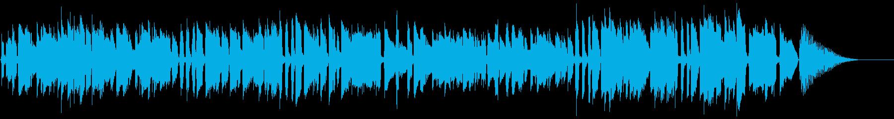 日常的な場面のBGMな雰囲気の再生済みの波形