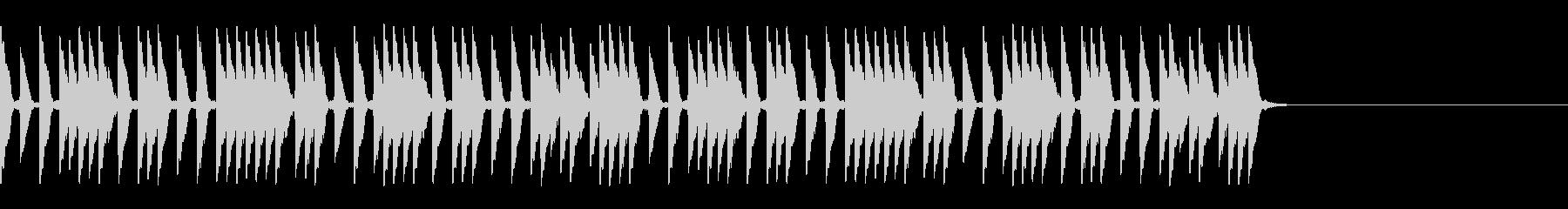 スピード感あるハイハットの未再生の波形