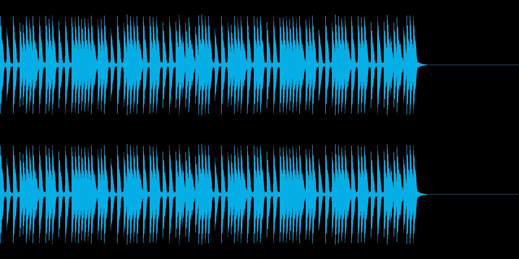 スピード感あるハイハットの再生済みの波形