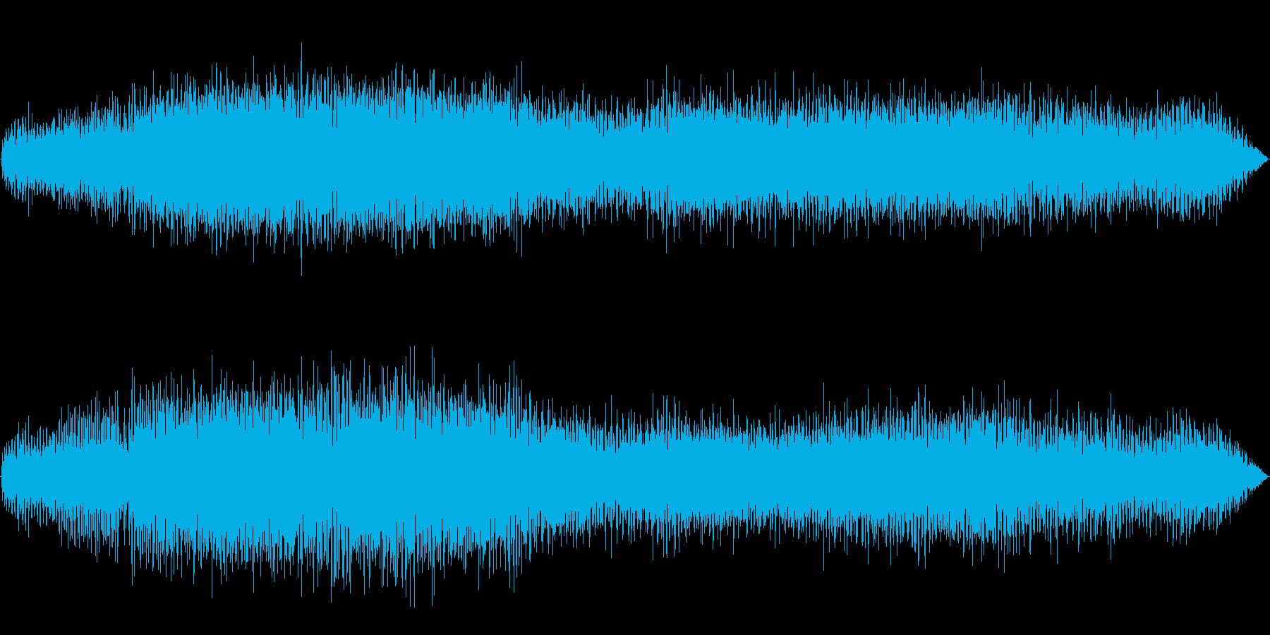 田舎の水路 梅雨のカエルの鳴き声の再生済みの波形