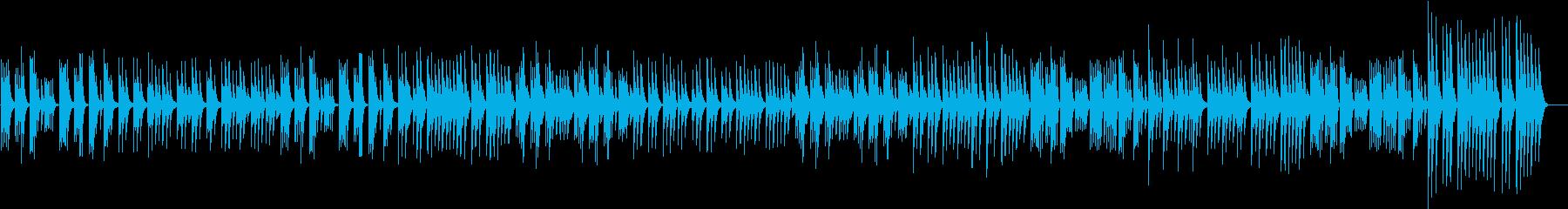 癒やしの空間をイメージしたスローな曲の再生済みの波形