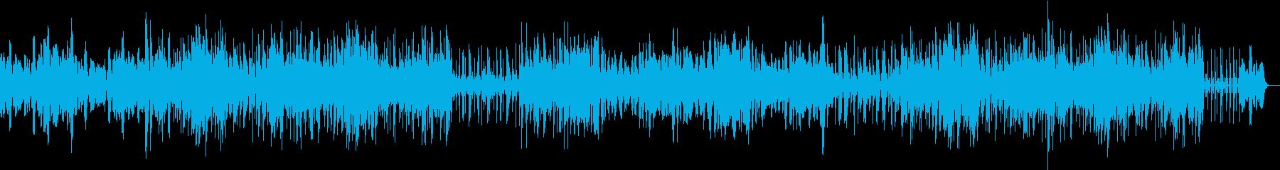 シンセサイザーによるストレッチ音楽の再生済みの波形
