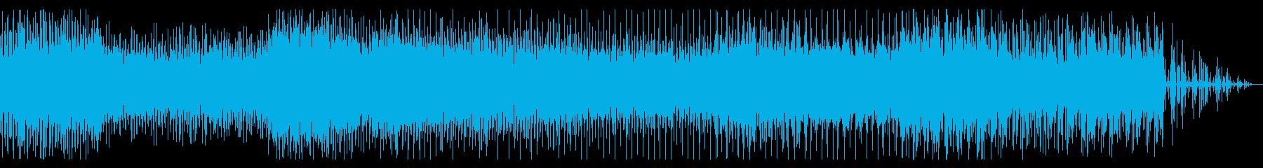 サスペンシブなシネマティックBGMの再生済みの波形