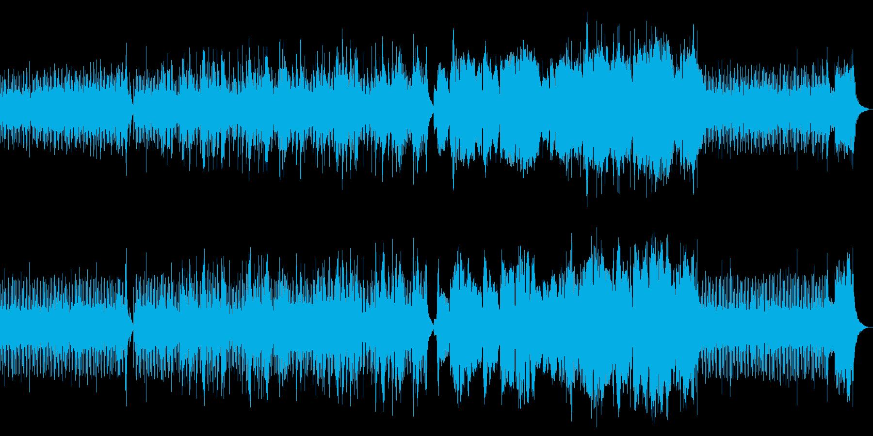 箏、尺八、和太鼓による3連符の和風な曲の再生済みの波形