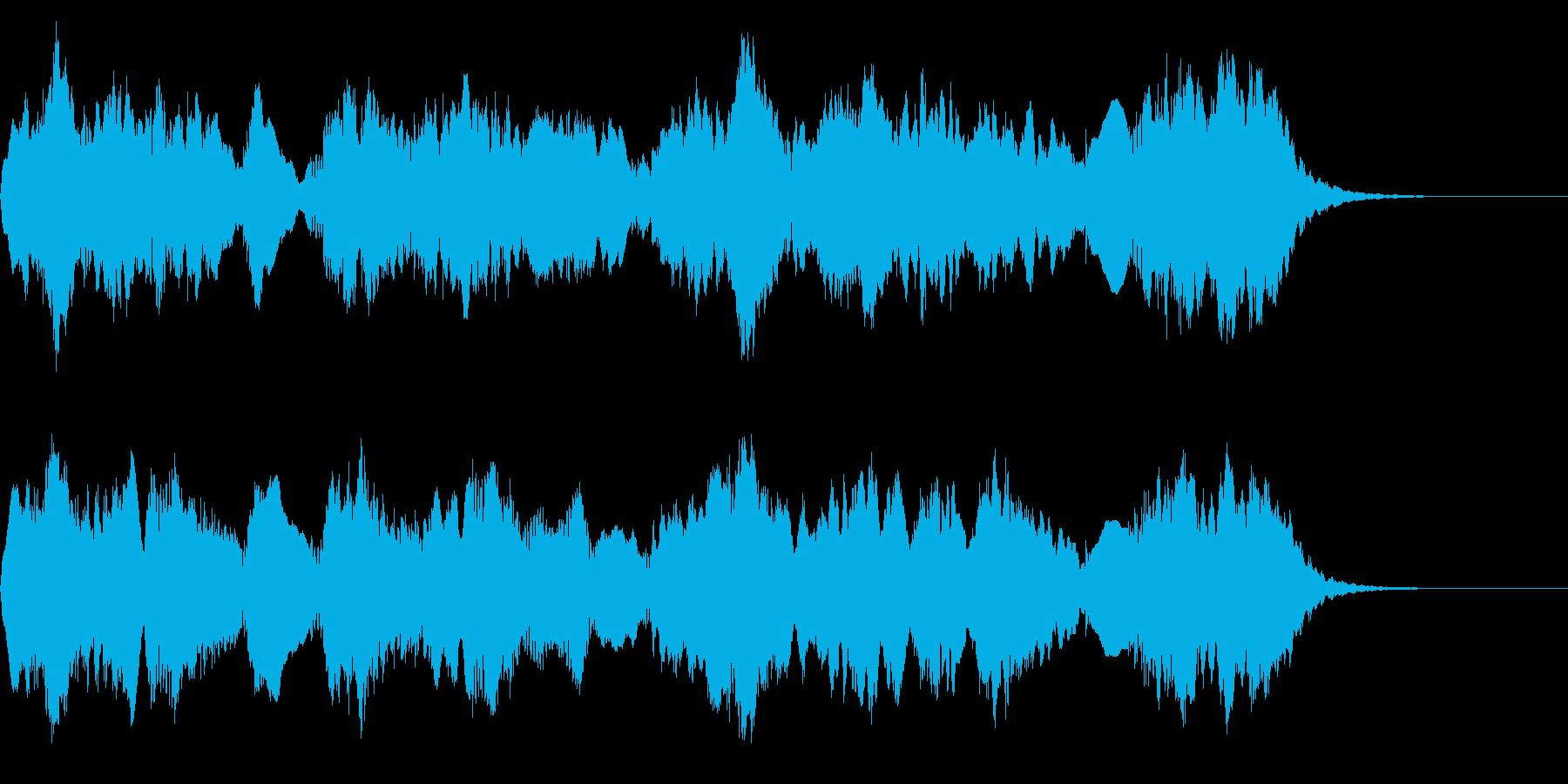 RPGのプロローグや回想シーンのような曲の再生済みの波形