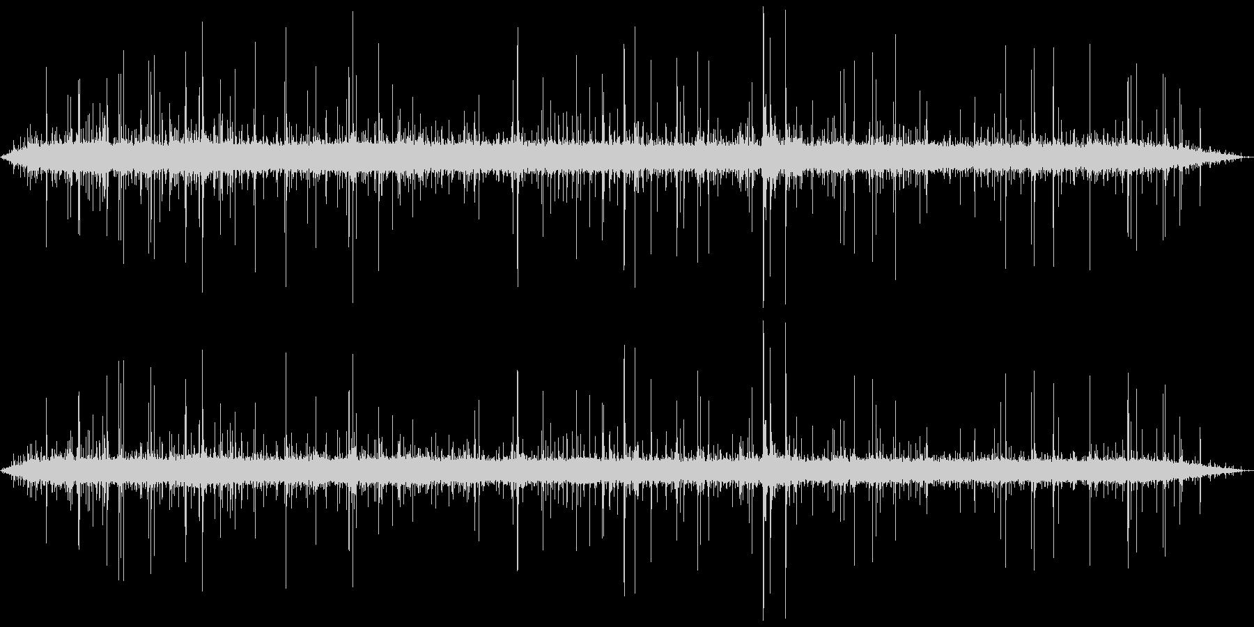 ジャー…+パチパチ… (焼く、長い)の未再生の波形