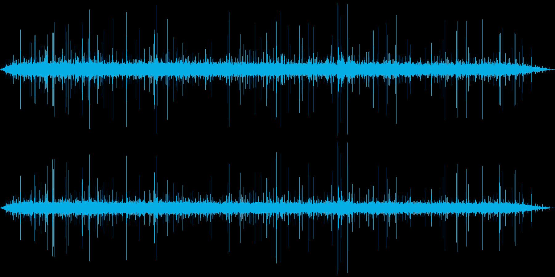ジャー…+パチパチ… (焼く、長い)の再生済みの波形