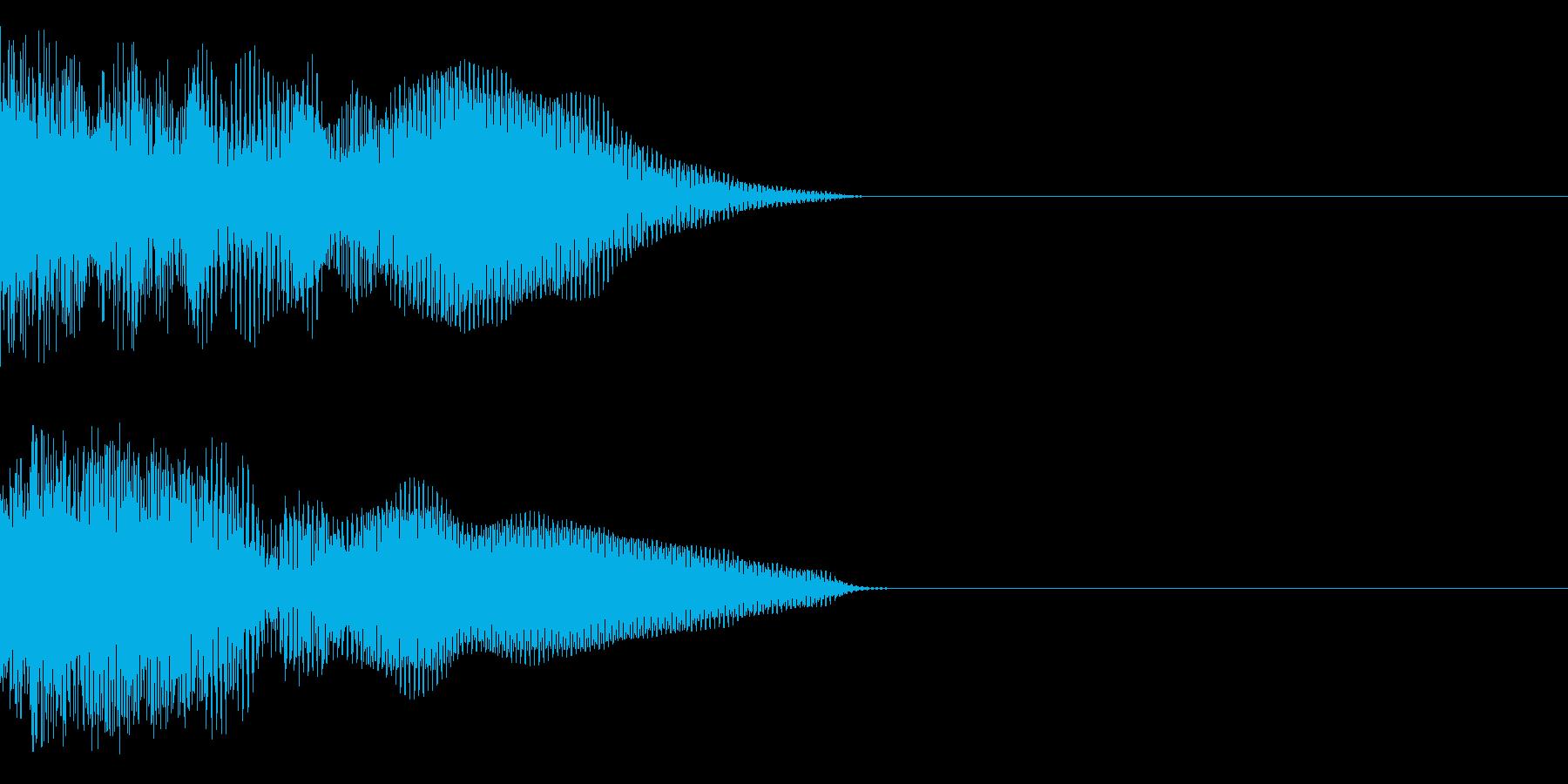 ビュィーーーンの再生済みの波形