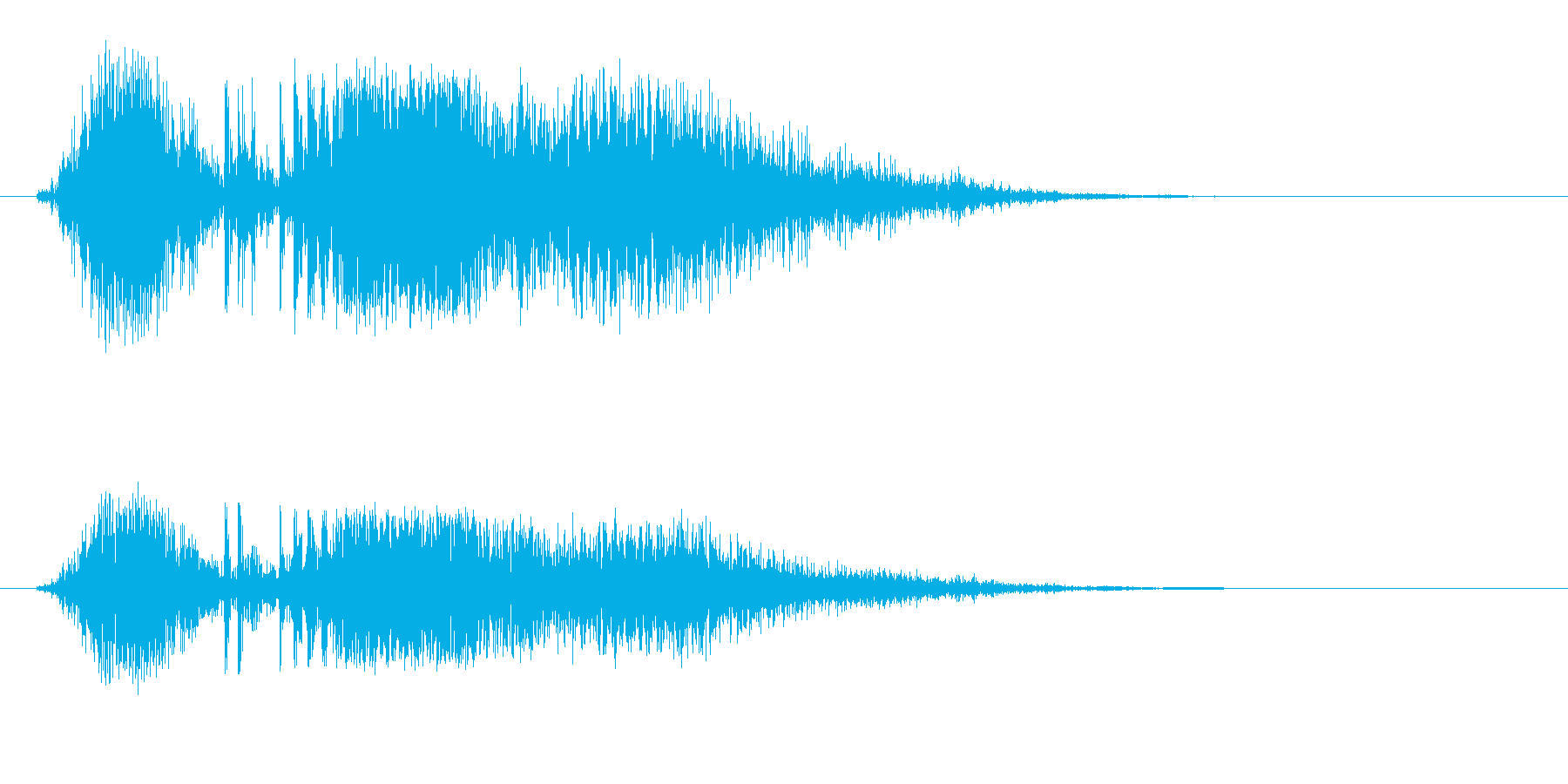 プシュ(小さめのくしゃみ)の再生済みの波形