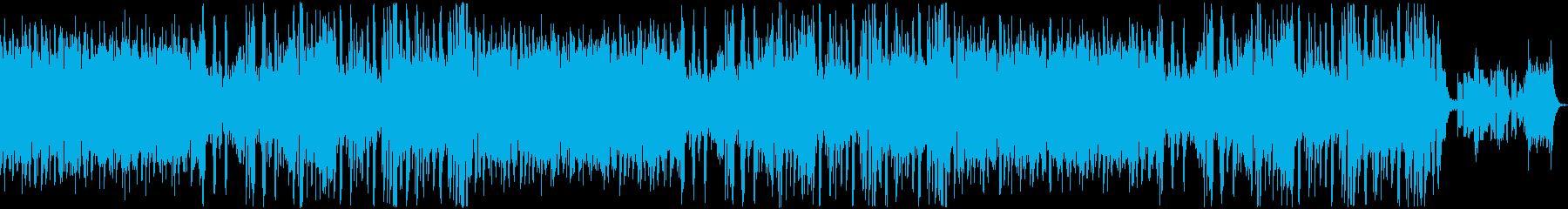 軽やかなジャズ風の曲ですの再生済みの波形