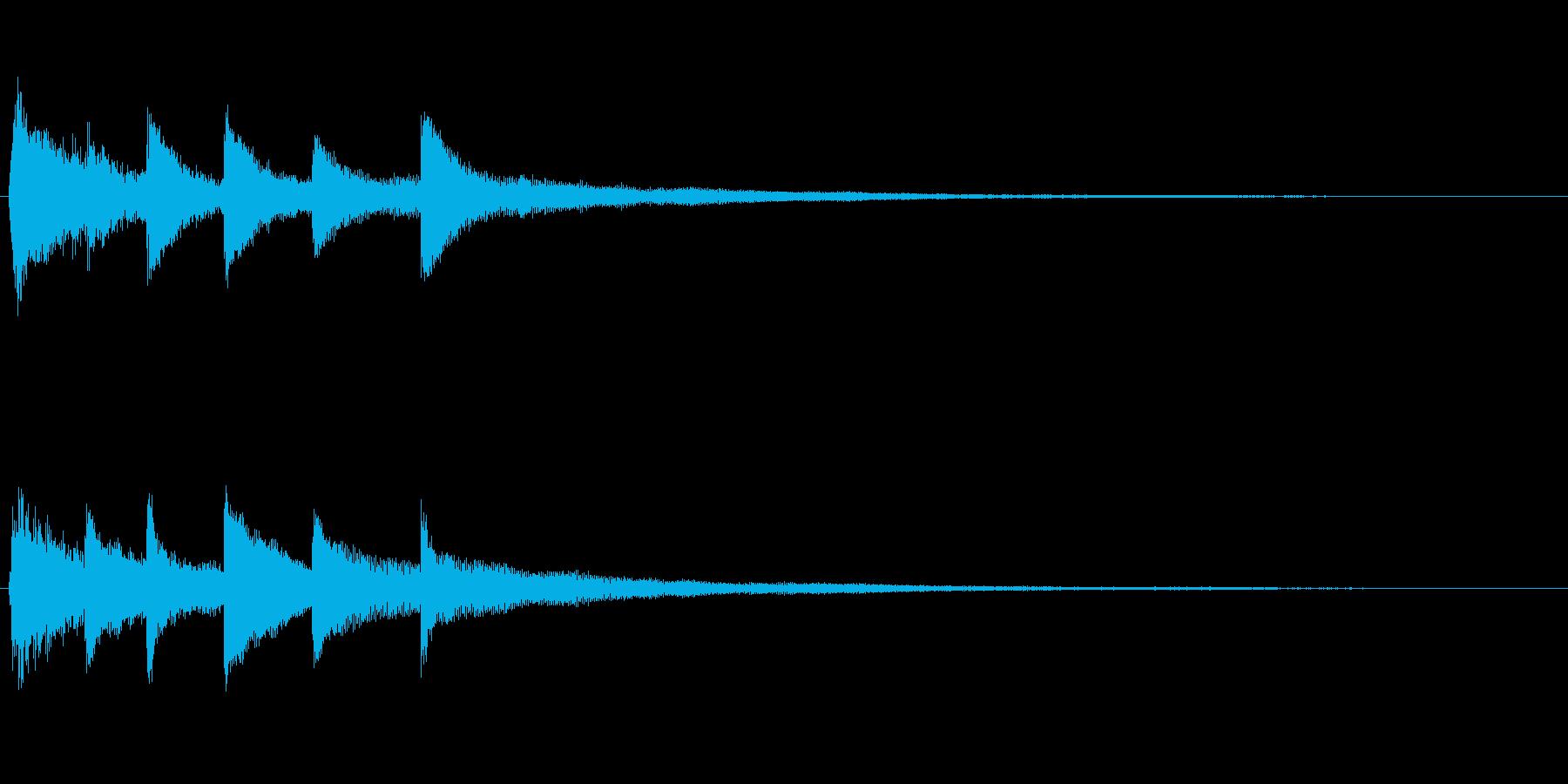 ピアノソロサウンドロゴ 優雅 大人 11の再生済みの波形