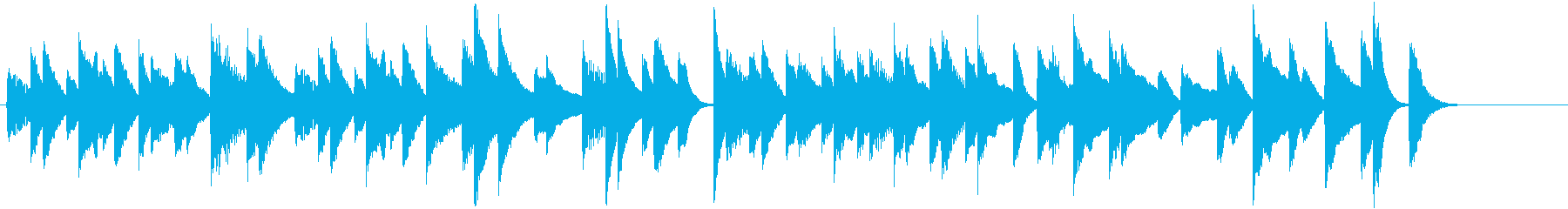 ほのぼの可愛い♪のんびりピアノジングルの再生済みの波形