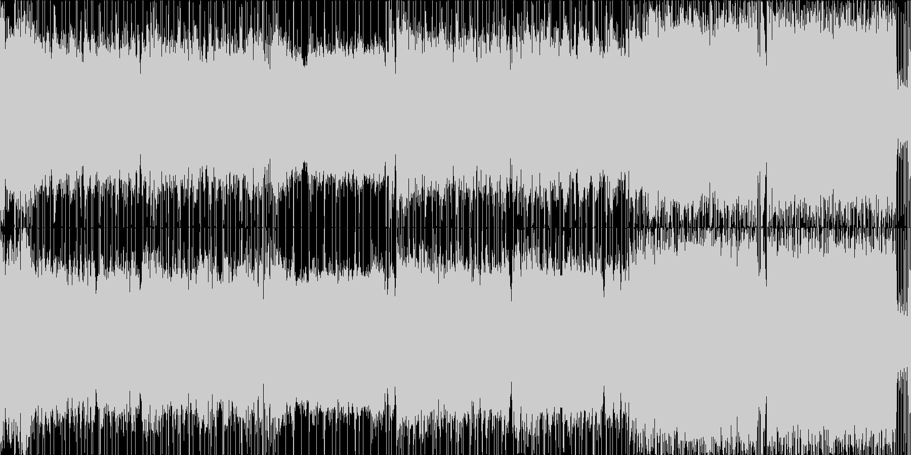 スローテンポのバトル楽曲の未再生の波形
