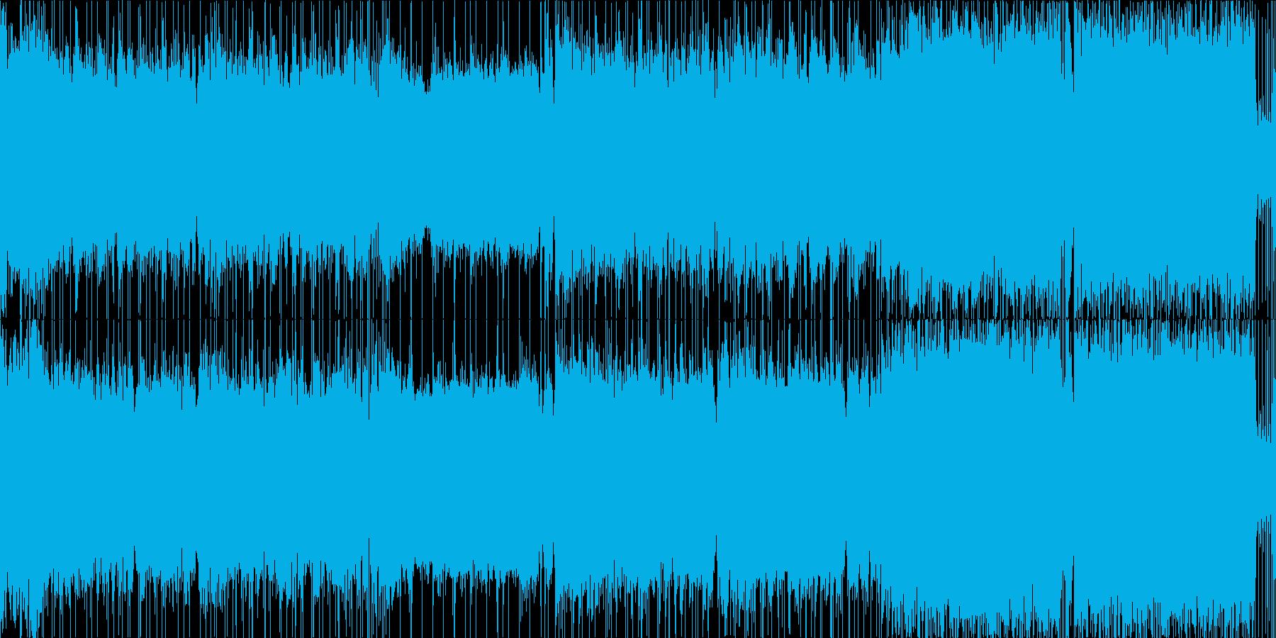 スローテンポのバトル楽曲の再生済みの波形