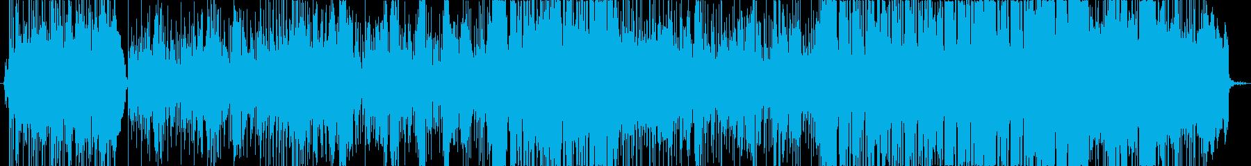 ポップロック調のメッセージソングの再生済みの波形