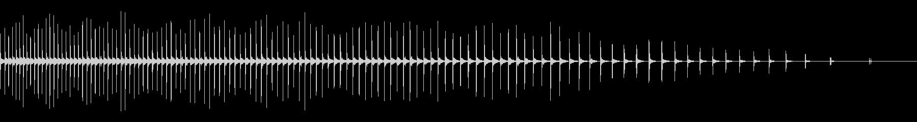 [生録音]自転車のラチェット音03-遅めの未再生の波形