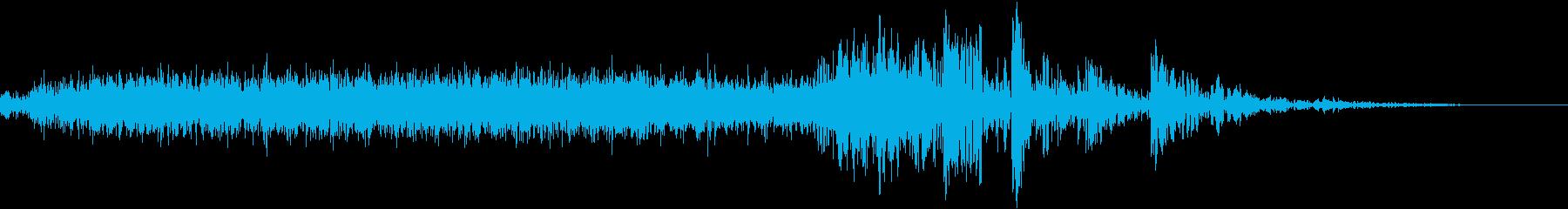ロボット/足音/ウィーン/ガシャッ/SFの再生済みの波形