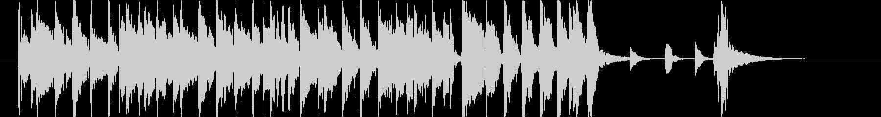 ジャズカルテットのジングルの未再生の波形