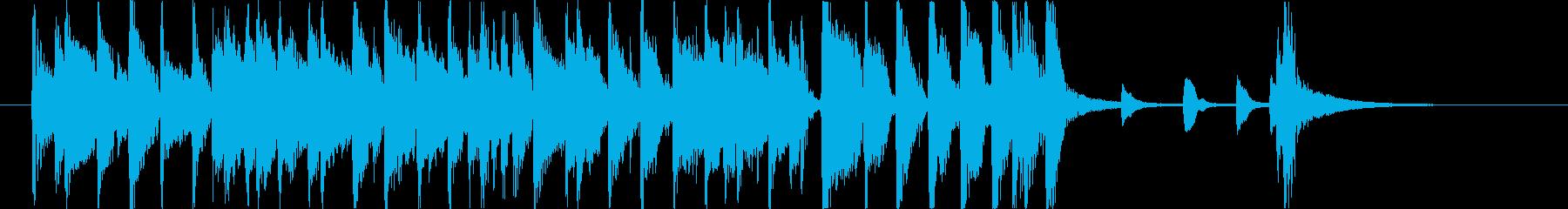 ジャズカルテットのジングルの再生済みの波形