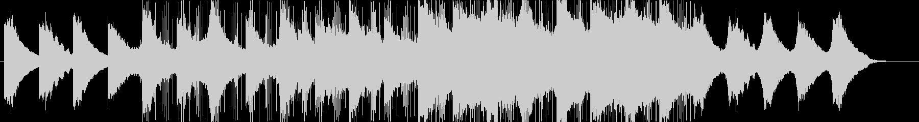 幻想的なイメージのBGMの未再生の波形