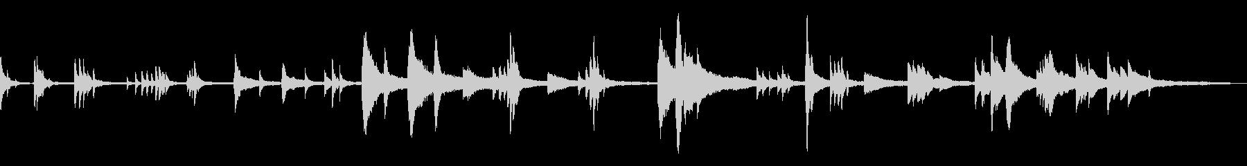 不気味/静寂/和風の雰囲気11-ピアノの未再生の波形