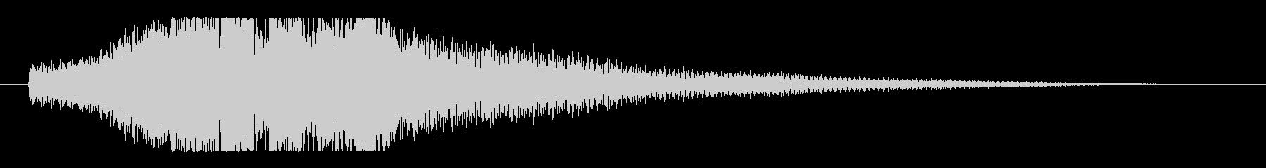 シンプルで透明感のあるピアノショートロゴの未再生の波形