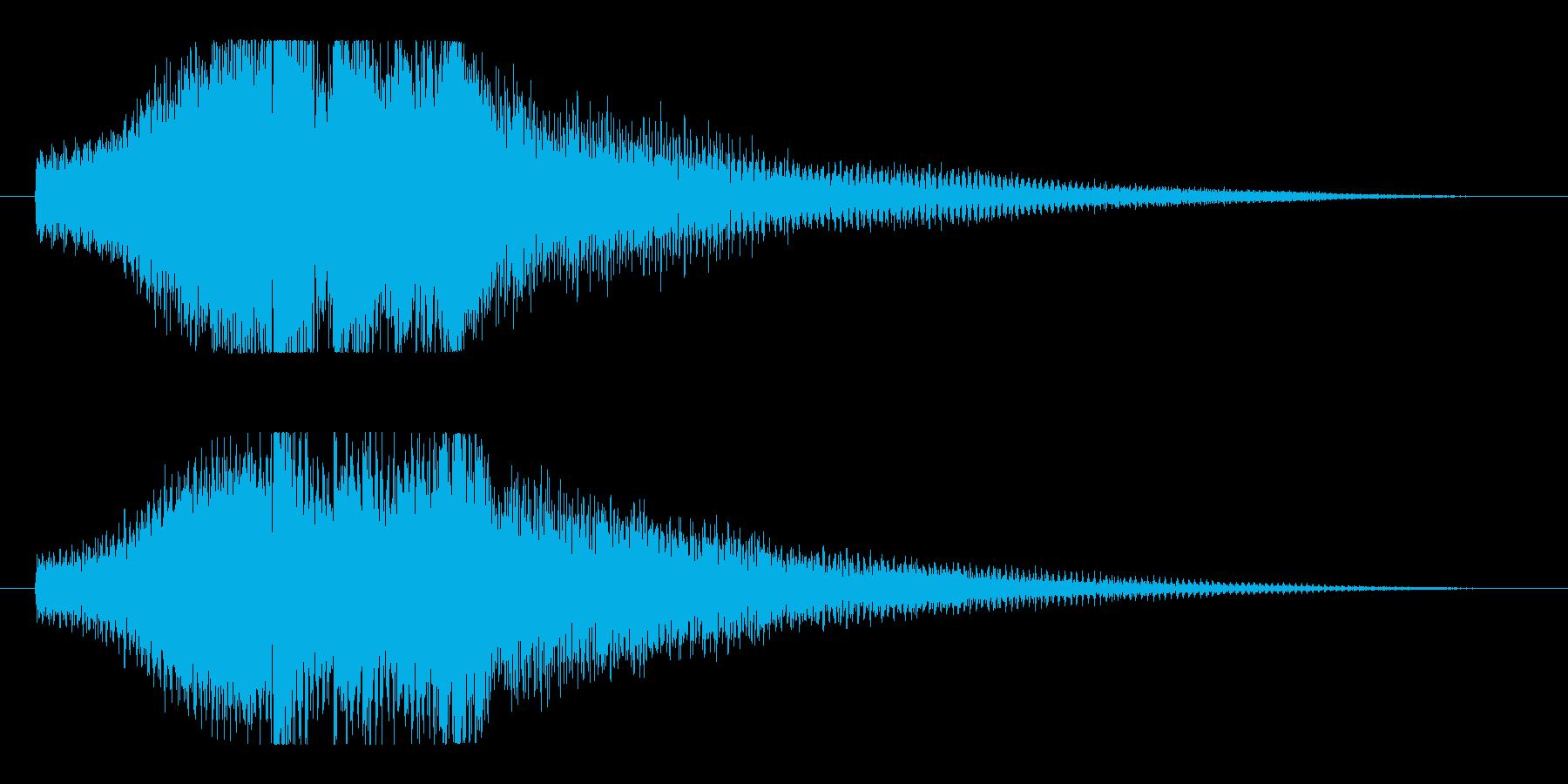シンプルで透明感のあるピアノショートロゴの再生済みの波形