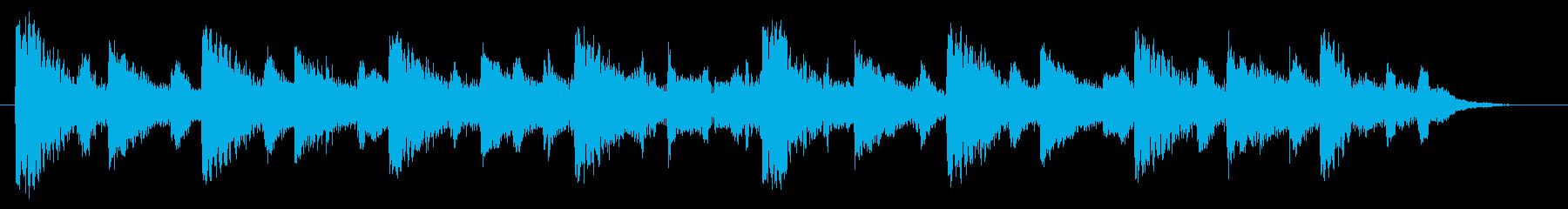和風ワルツの15秒CM用楽曲:桜の舞の再生済みの波形