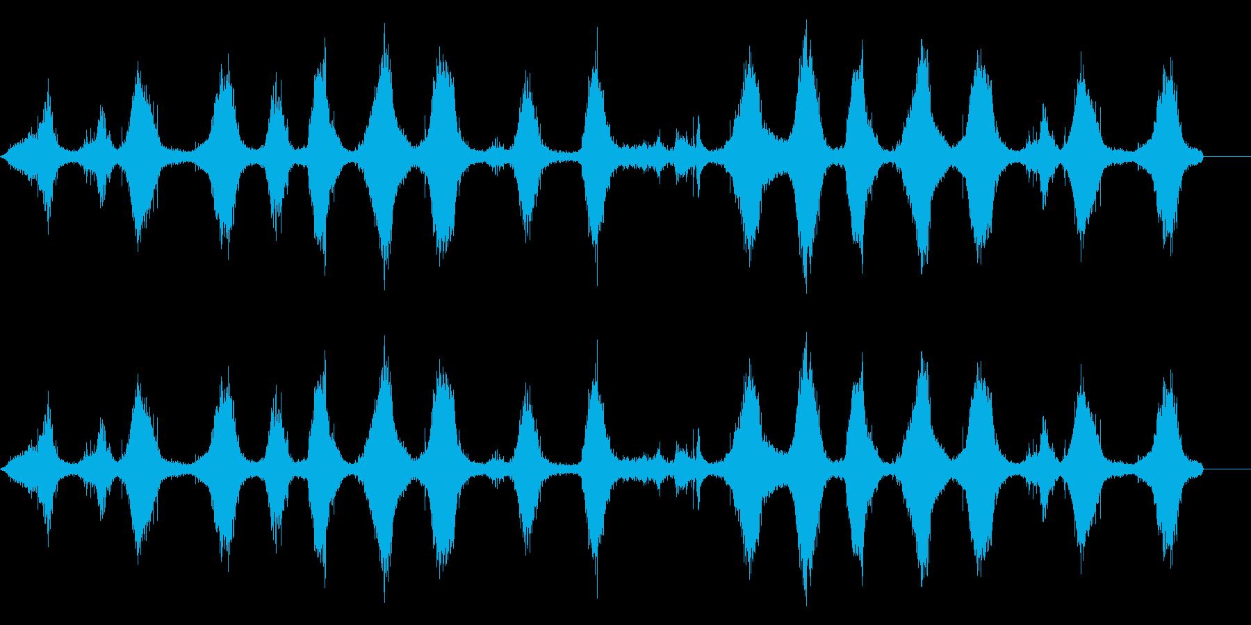 波-地球上のソフトロールの再生済みの波形