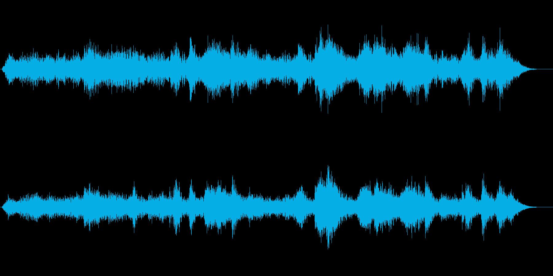 太古の恐竜時代を思わせる神秘的な音風景の再生済みの波形