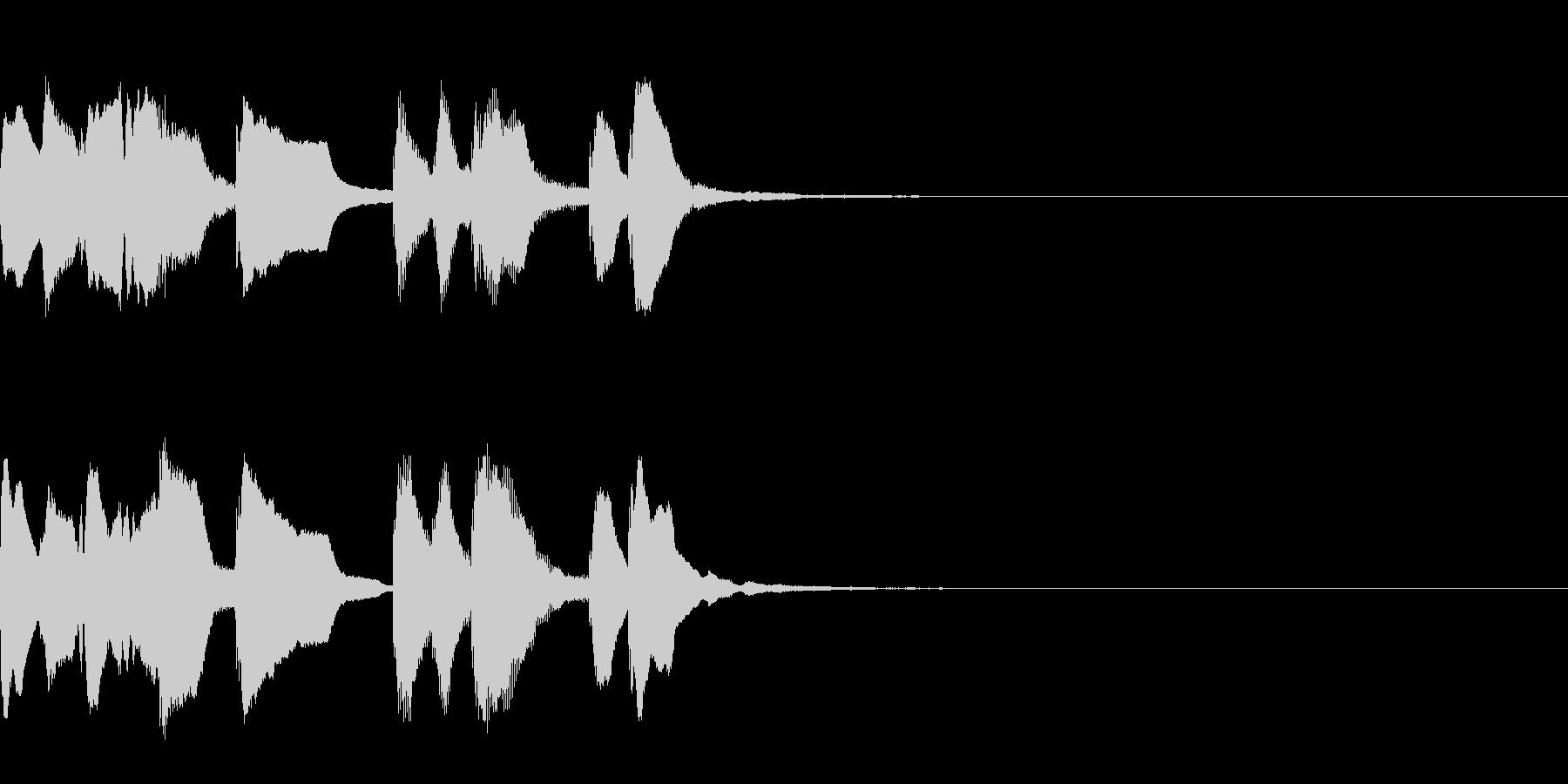 不思議なものに出会ったときの音楽 3秒の未再生の波形